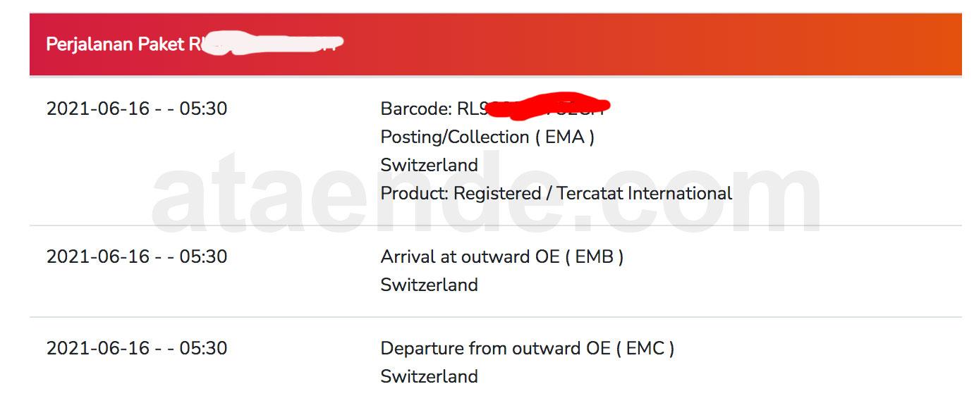 Tracking kantor pos internasional