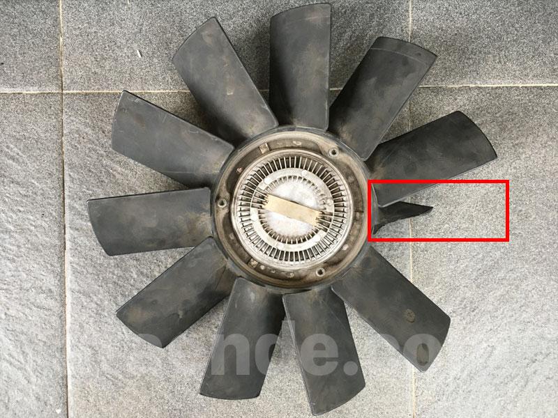 Broken fan blade on e36 m50