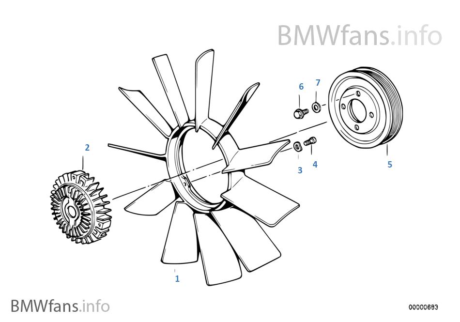 fan clutch diagram e36 m50