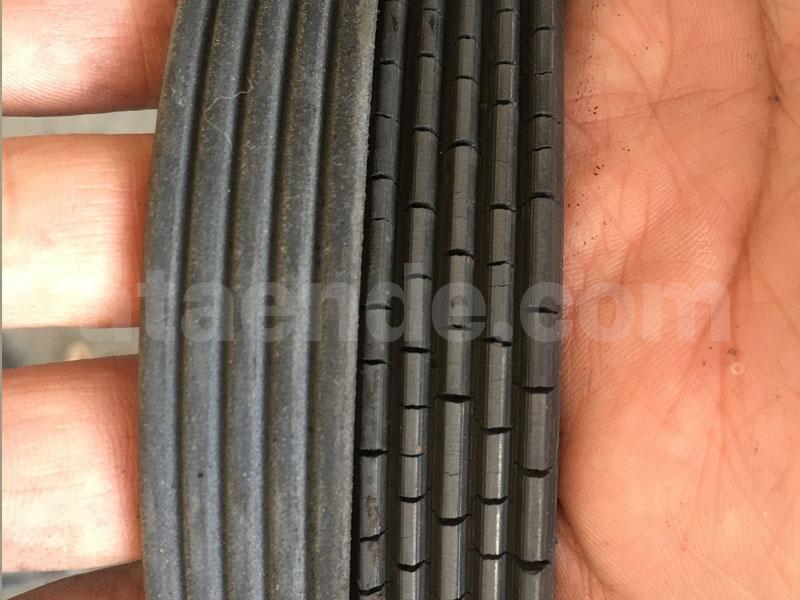 cracked fan belt