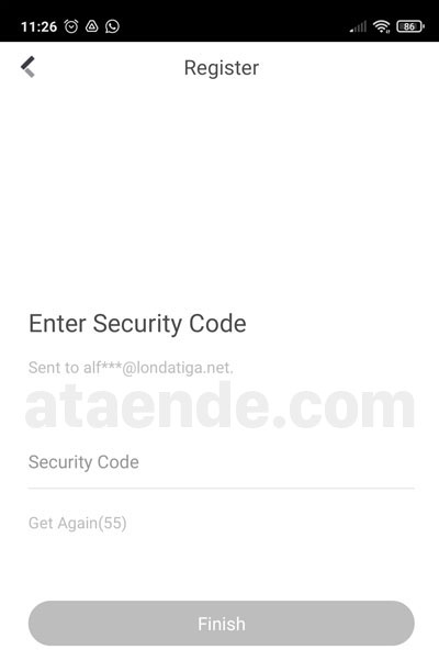 Hik-Connect security code