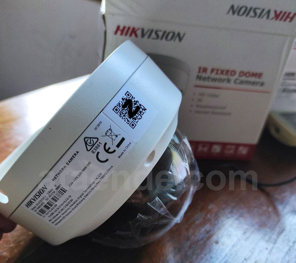 qr code pada body ip camera hikvision